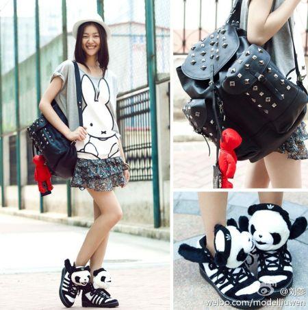 scott 熊猫运动鞋