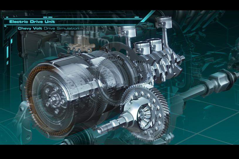 从设计图纸上来看,沃蓝达的驱动单元(电机 发动机)与一般的油电混合车