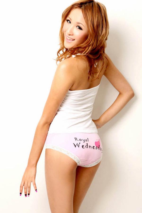 收藏的各色美女[16p];; 甜美小嫩模可爱小内内;; 浅粉色三角包臀星期
