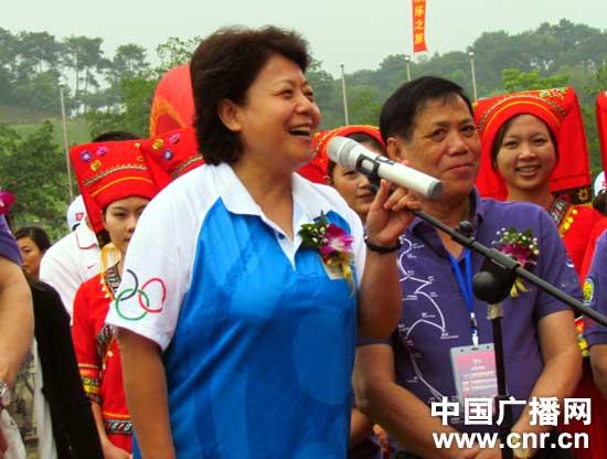 广西壮族自治区副主席李康下达发车指令