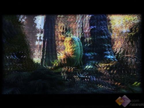 选择左右3d模式之后的3d播放画面实拍