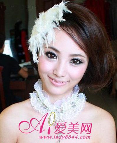 新娘晚装发型怎么做
