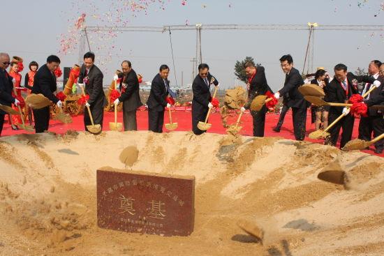 中国国际葡萄酒博览交易城在浙江省平湖市新埭镇临沪产业园奠基。