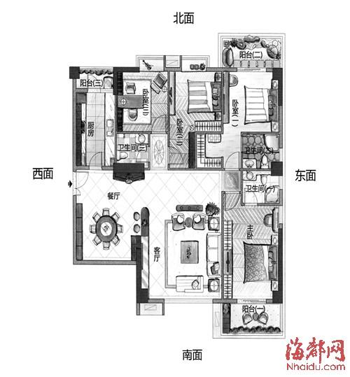120平方二层四房两厅设计图展示