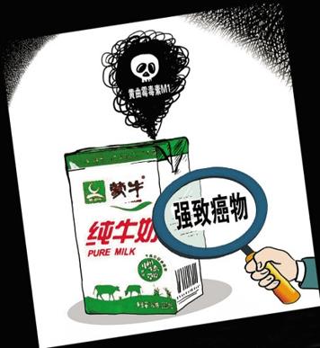 蒙牛黄曲毒霉素超标