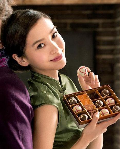 Angelababy杨颖代言拍摄GODIVA巧克力最新广