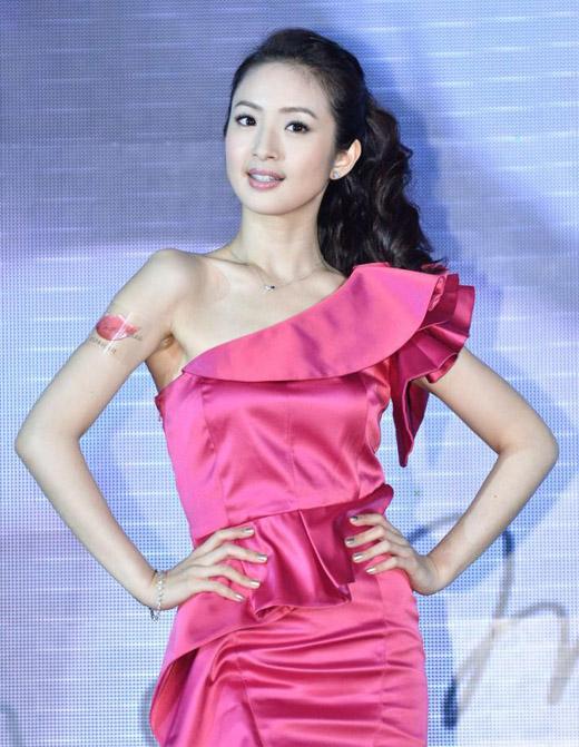 林依晨担任品牌KOSE丰靡美姬2013秋季全新代言人出席活动