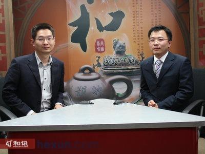 中国量化投资网合伙人罗颜(右)