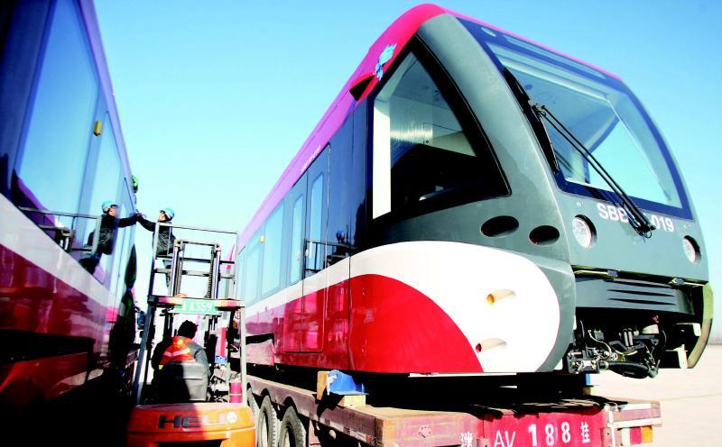 世界最大货运飞机载中国造轨道车辆飞赴土耳其