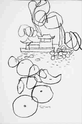 古小孩看书简笔画