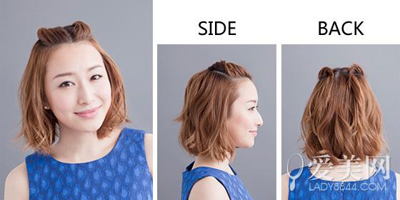 中分的刘海简单不失可爱,且扎发潮流有范,让中短发告别乏味变得更时