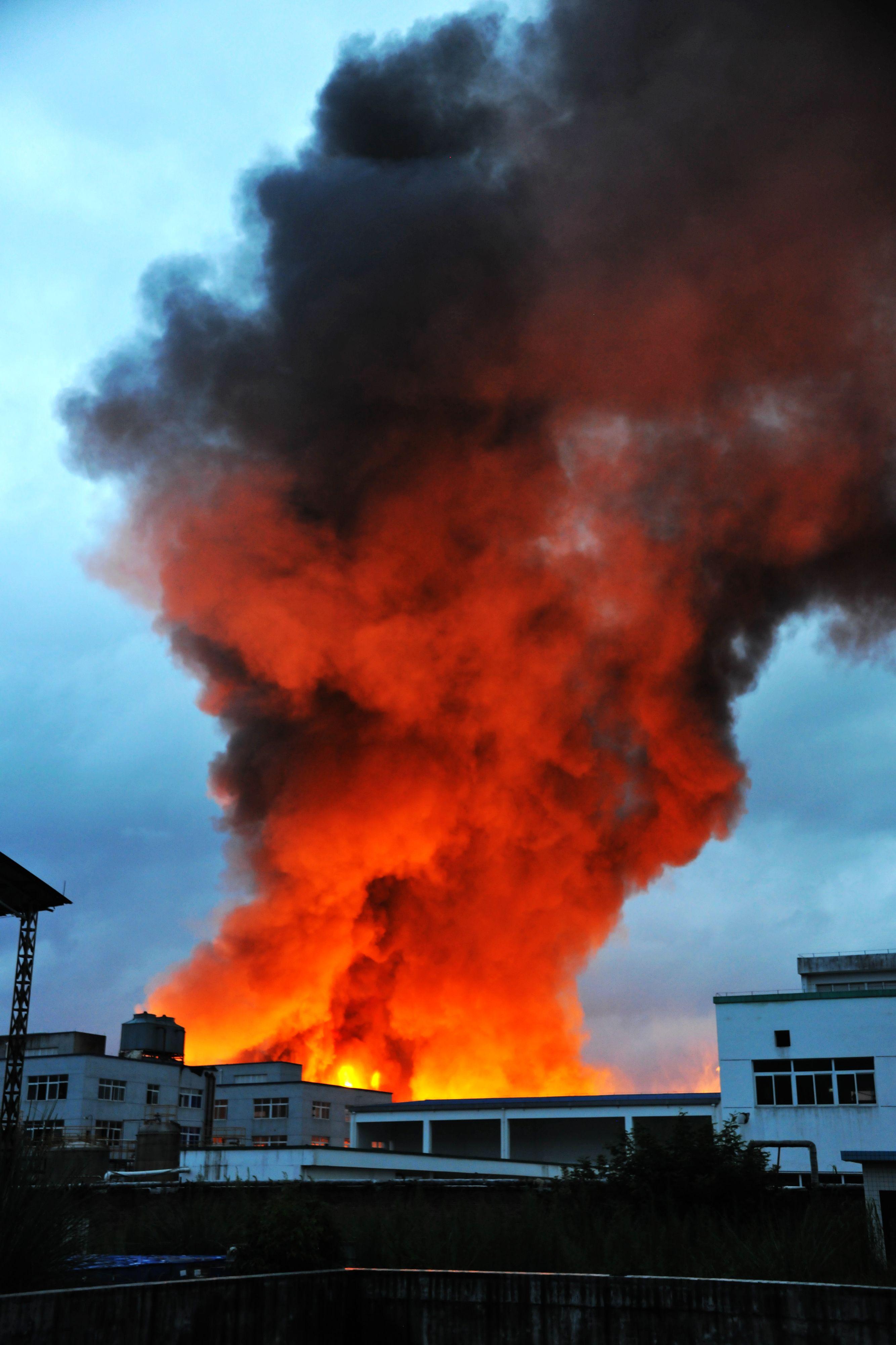 风景 火山 火灾