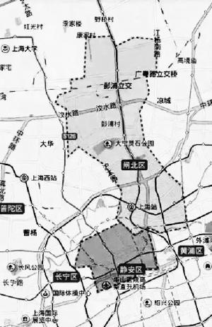 上海特色手绘地图