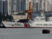 带炮海警船再次巡逻钓鱼岛海域