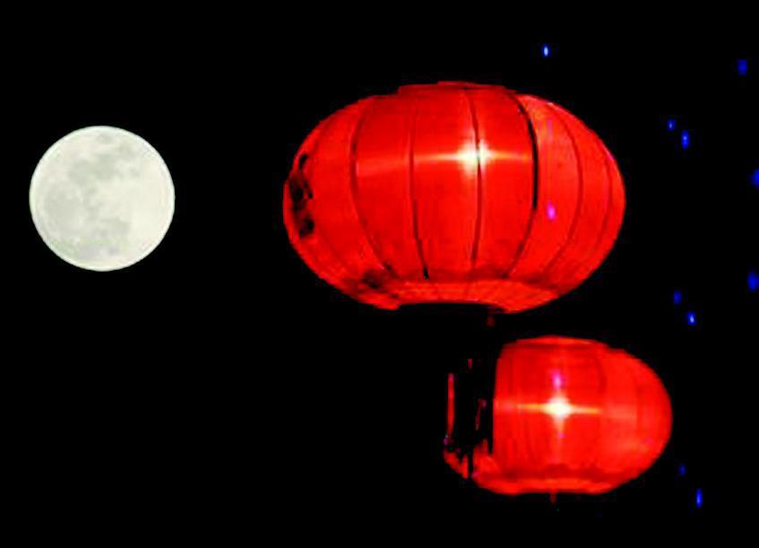 元宵节一串灯笼画画步骤图解
